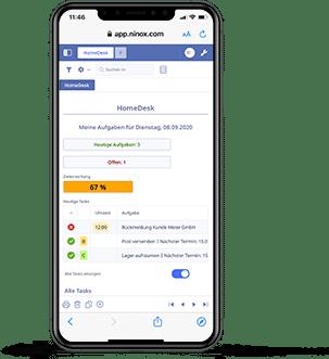 Ninox Low Code HomeDesk App Aufgabenverwaltung Taskmanagement Apple iPhone