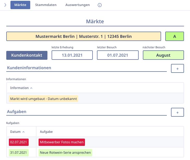 Ninox SalesDesk CRM Kundenansicht 1