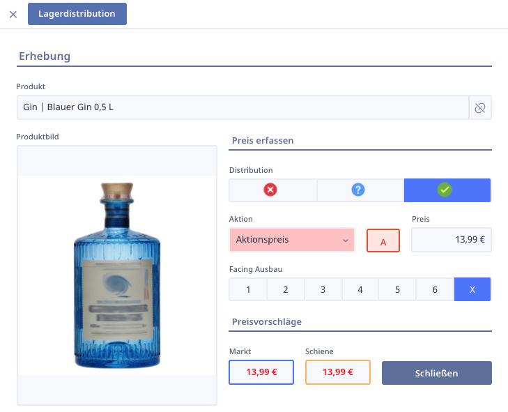 Ninox SalesDesk Storecheck Produktansicht 1